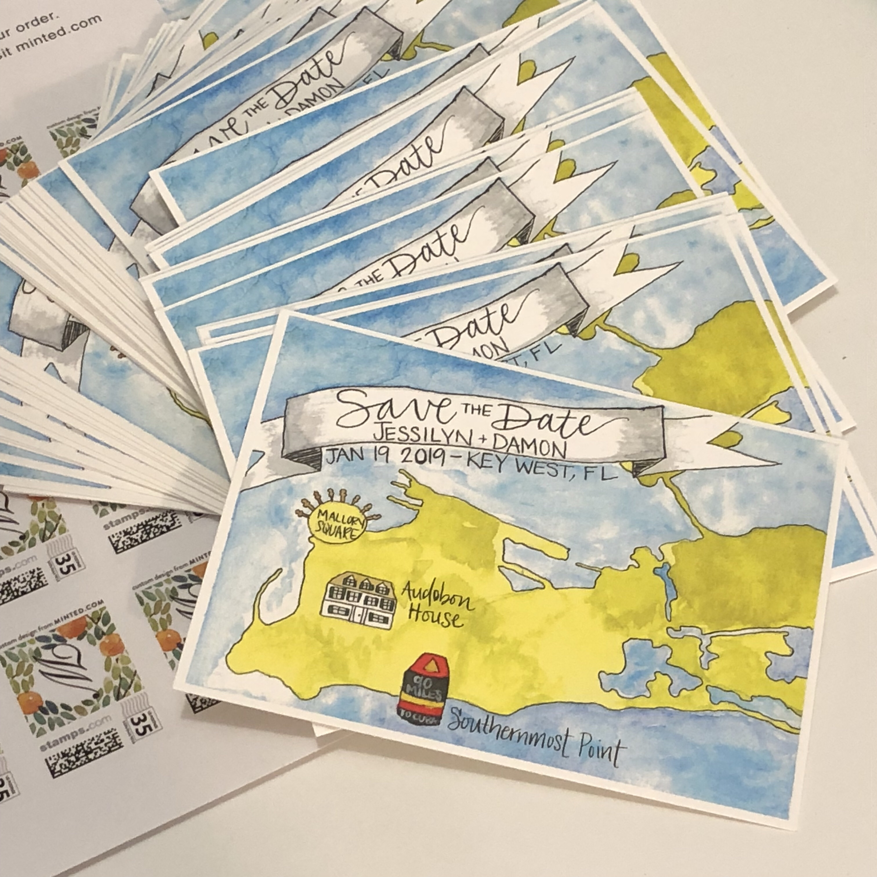 graphic about Printable Map of Key West named Help you save the Dates: Watercolor Map of Principal West Paper Premise